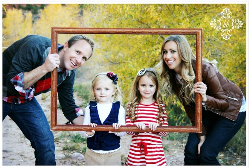 Family Pictures Using Props