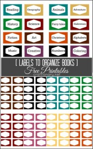 Free Book label Printables (Books Organization)