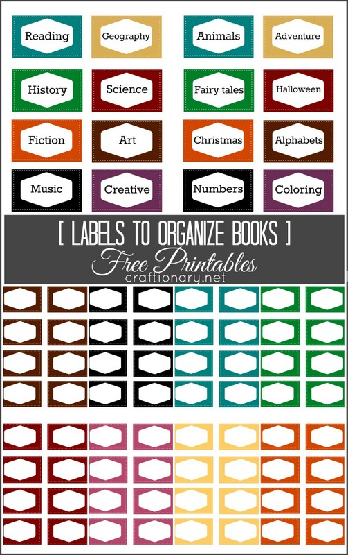 graphic relating to Free Printable Organizing Labels known as Craftionary