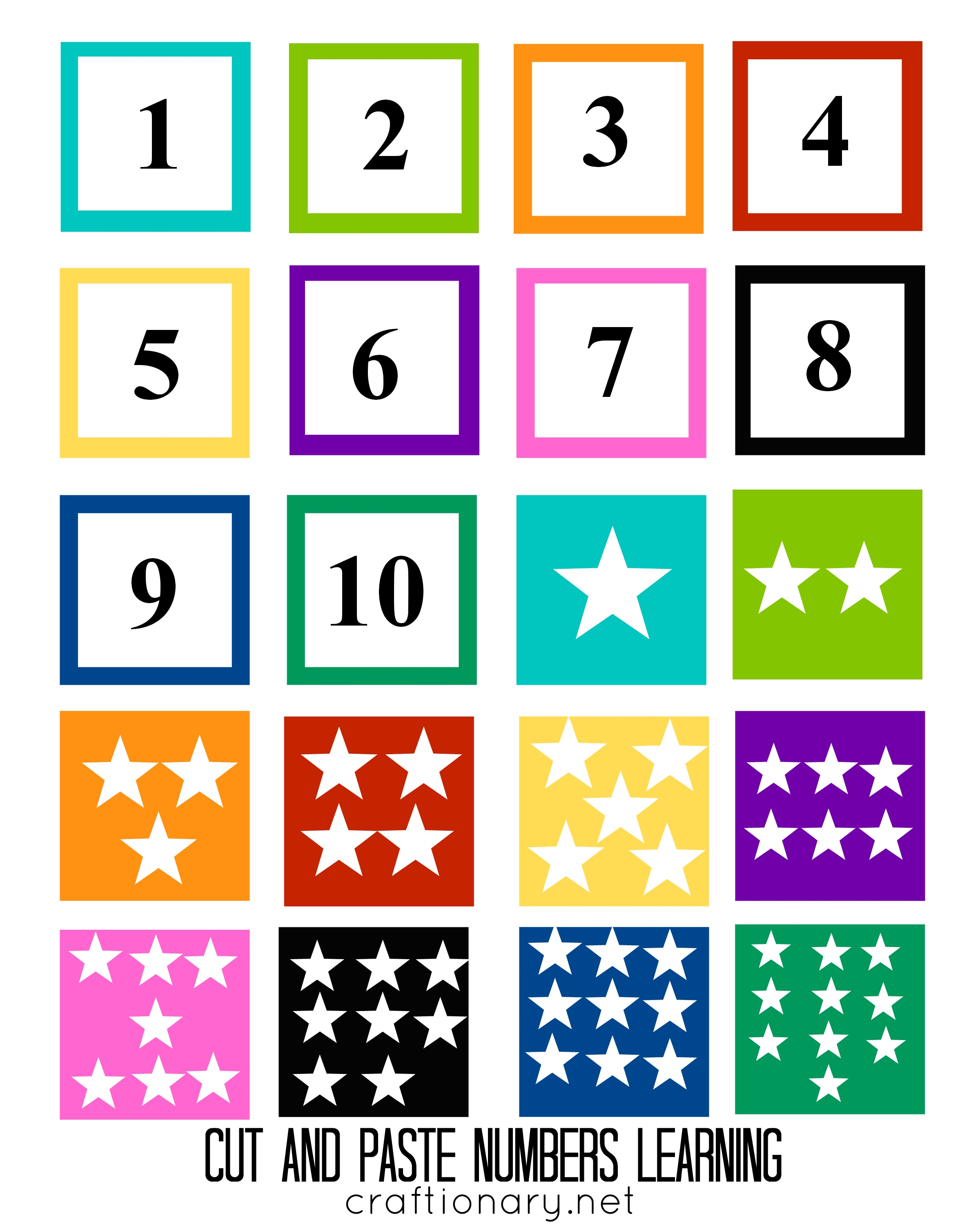 Worksheets Printable Numbers craftionary free numbers matching printable for kids