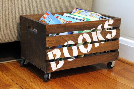 home organization crate