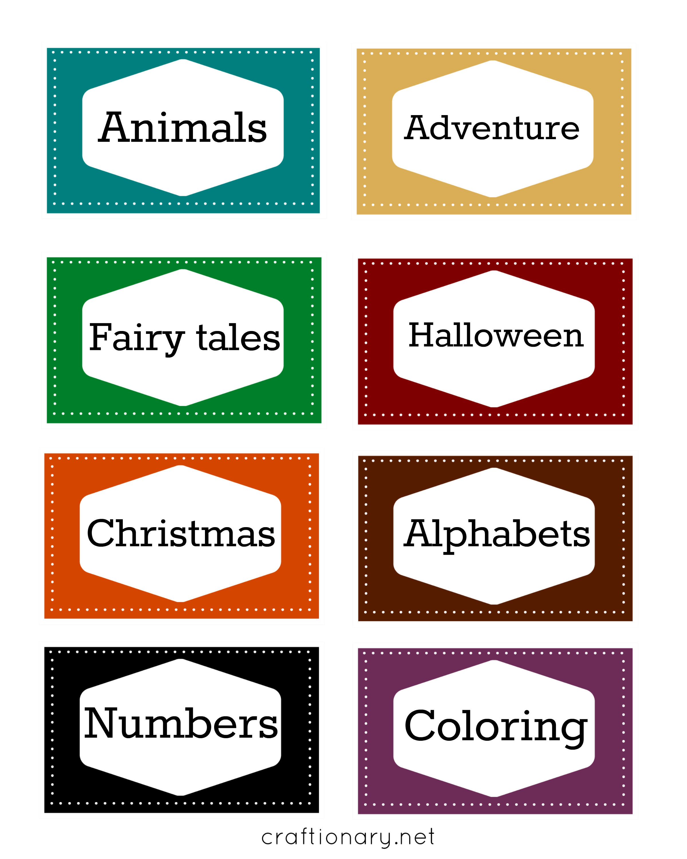 kids book label printables
