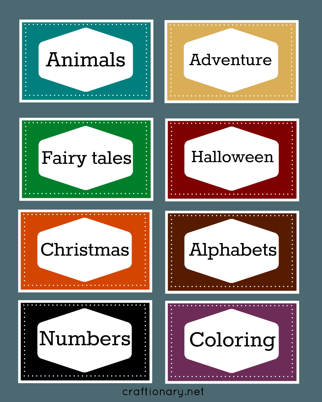 Free Printables Books For Kindergarten Free Book Label Printables