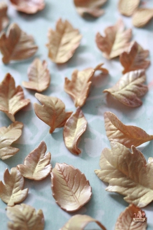 creative fall recipes - gum paste leaves
