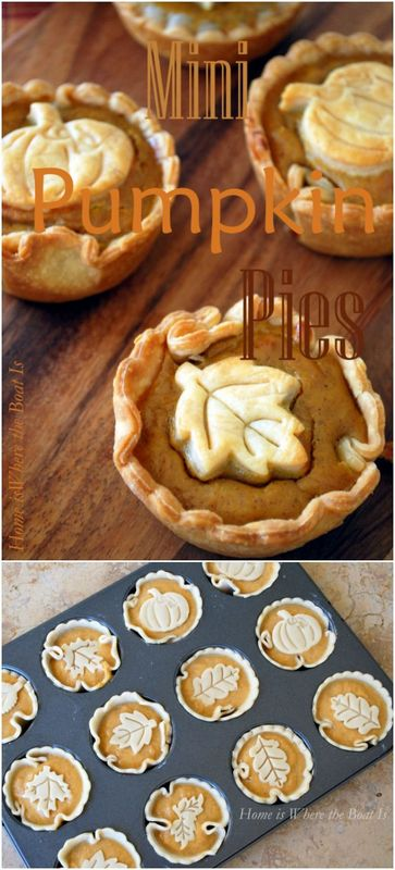 creative fall recipes - mini pumpkin pies