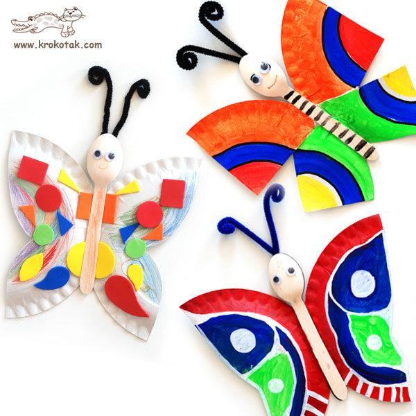 plastic spoon butterflies kids craft
