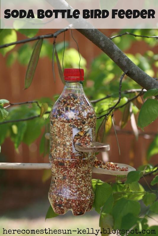 plastic spoons bird feeder