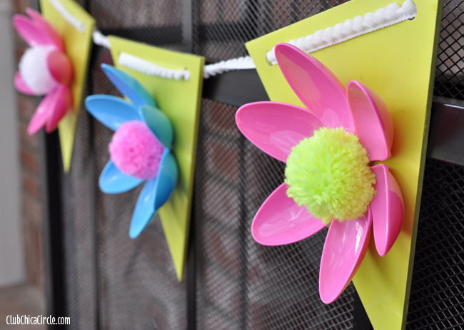 plastic spoons flower garland