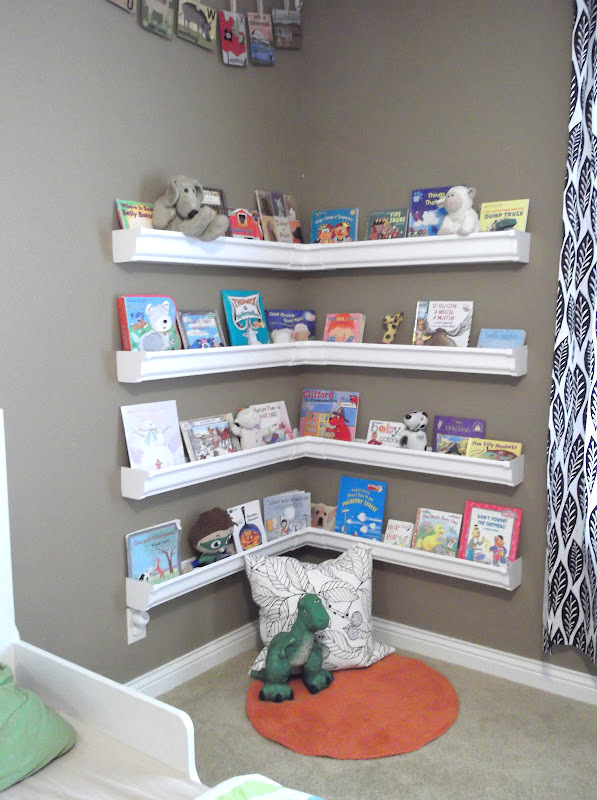 make books display from rain gutters