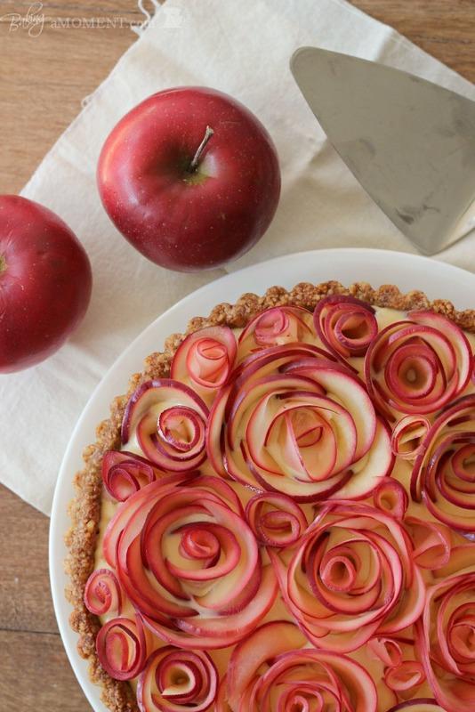 ... pretty Fall recipe. Make an apple walnut tart with maple custard