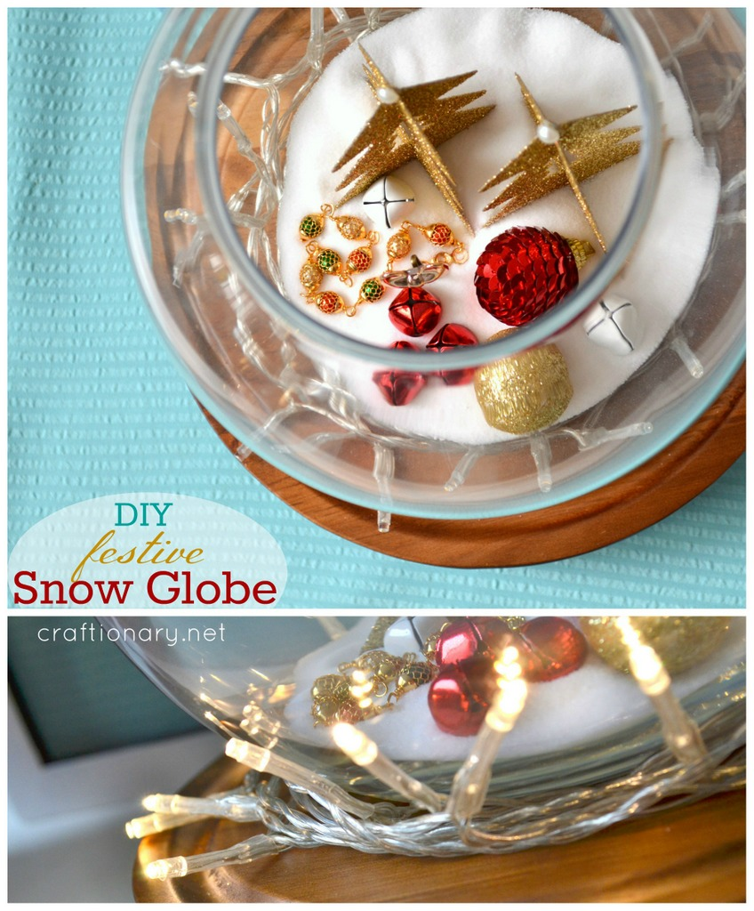DIY fishbowl snow globe tutorial at craftionary.net