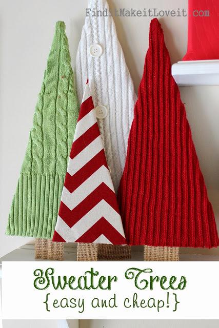 Sweater Christmas trees - craftionary.net