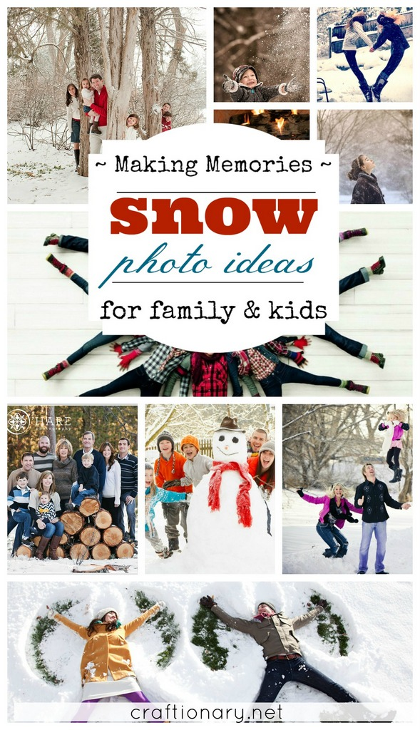Best photo ideas to make memories in snow at craftionary.net