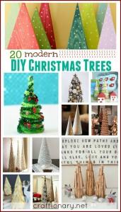 DIY Modern Christmas trees - craftionary.net