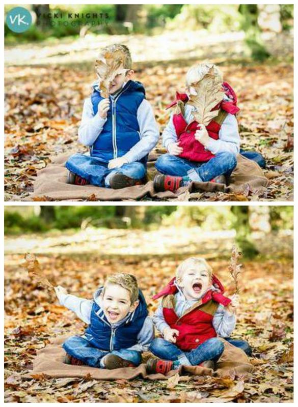 Fall Leaf Photo Prop Kids