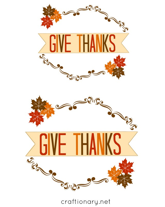 free printable give thanks