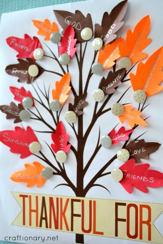 image relating to Thankful Tree Printable identify Craftionary