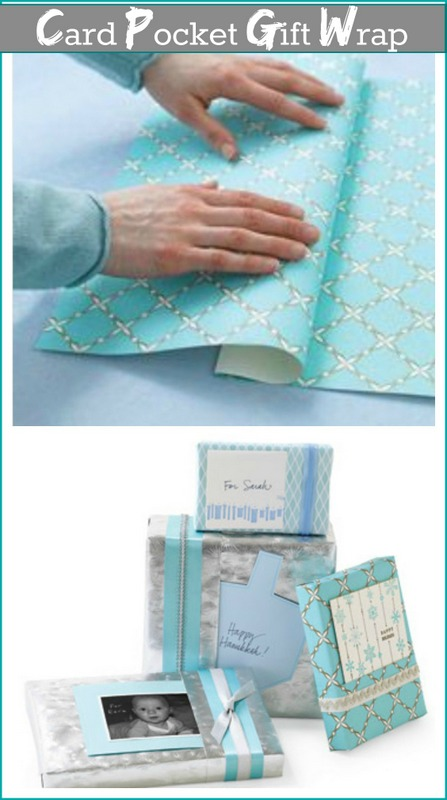 Gift wrapping with card pocket