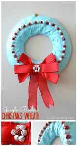 Jingle bells wreath (Christmas wreath tutorial)