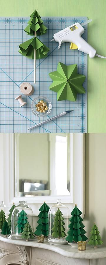 Paper Christmas trees - craftionary.net