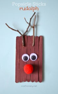 Popsicle Sticks Rudolph – Kids Christmas Craft