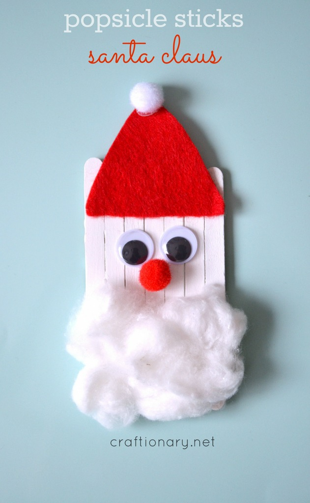 Popsicle Sticks Santa Christmas At Craftionary