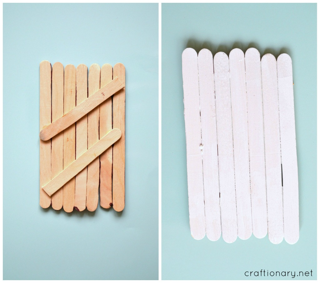 popsicle sticks santa claus tutorial