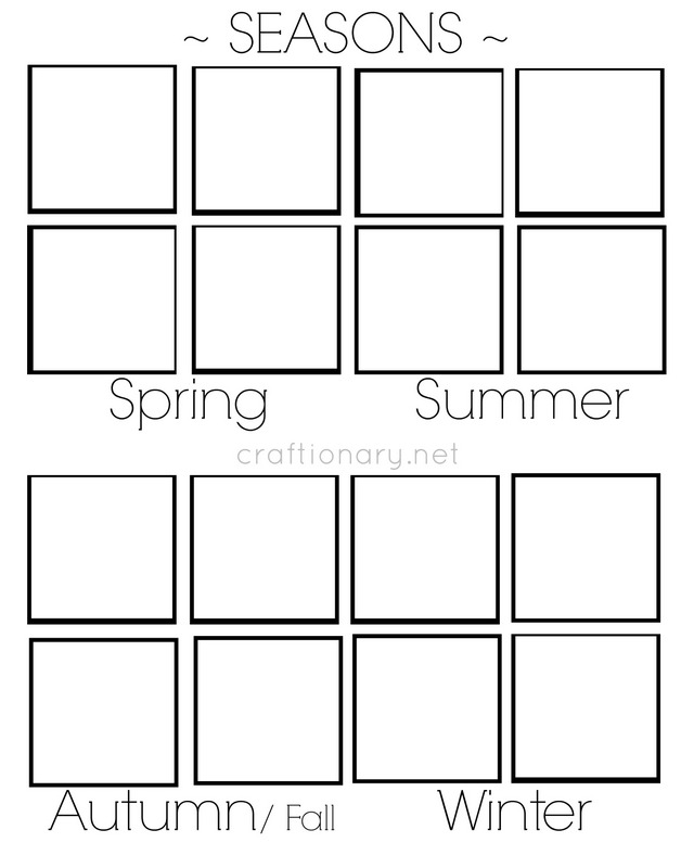 Craftionary – Seasons Worksheet Kindergarten
