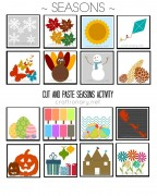 seasons matching free printable
