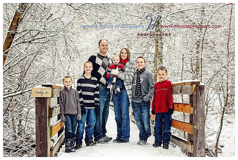 Snow Family photo on the bridge at craftionary.net
