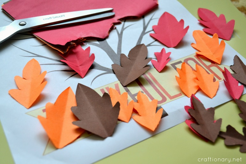graphic relating to Thankful Leaves Printable titled Craftionary