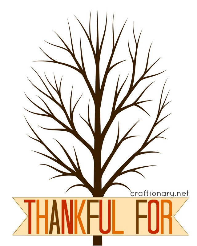 Adaptable image within thankful tree printable