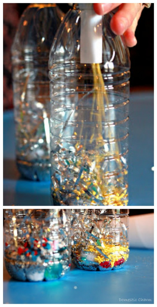 DIY disposable bottle noise makers