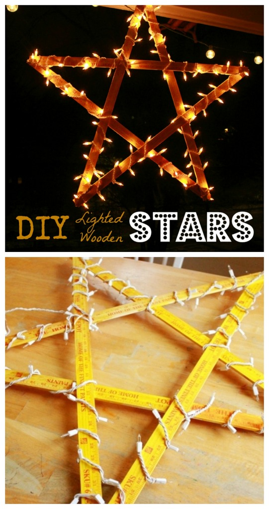 diy lighted star tutorial - Diy Lighted Outdoor Christmas Decorations