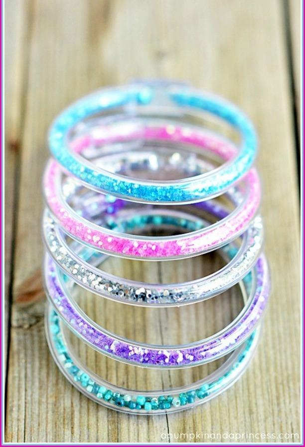 How to make glitter vinyl tube bracelets