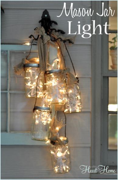 Decorating with lights - DIY mason jar lights
