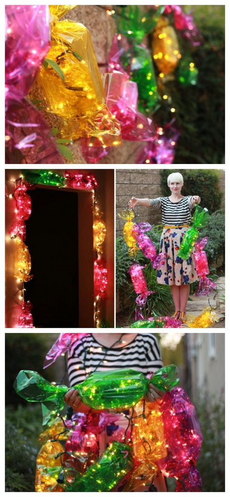 Candy lights for entrance door
