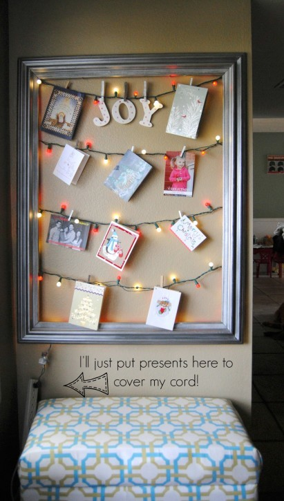 String lights card display