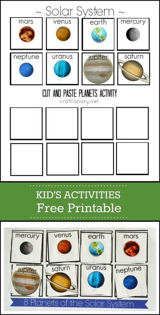 Craftionary – Free Printable Solar System Worksheets