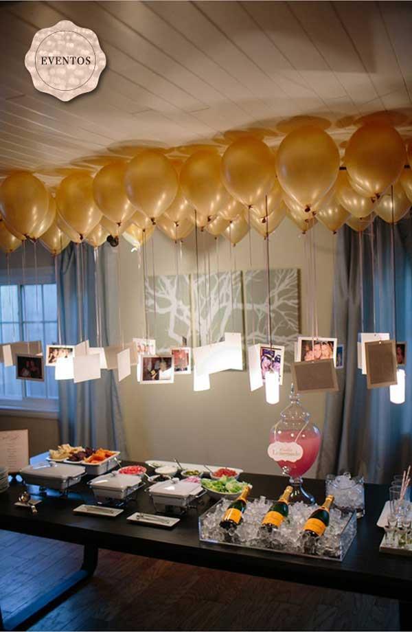 DIY NYE Balloons decorations