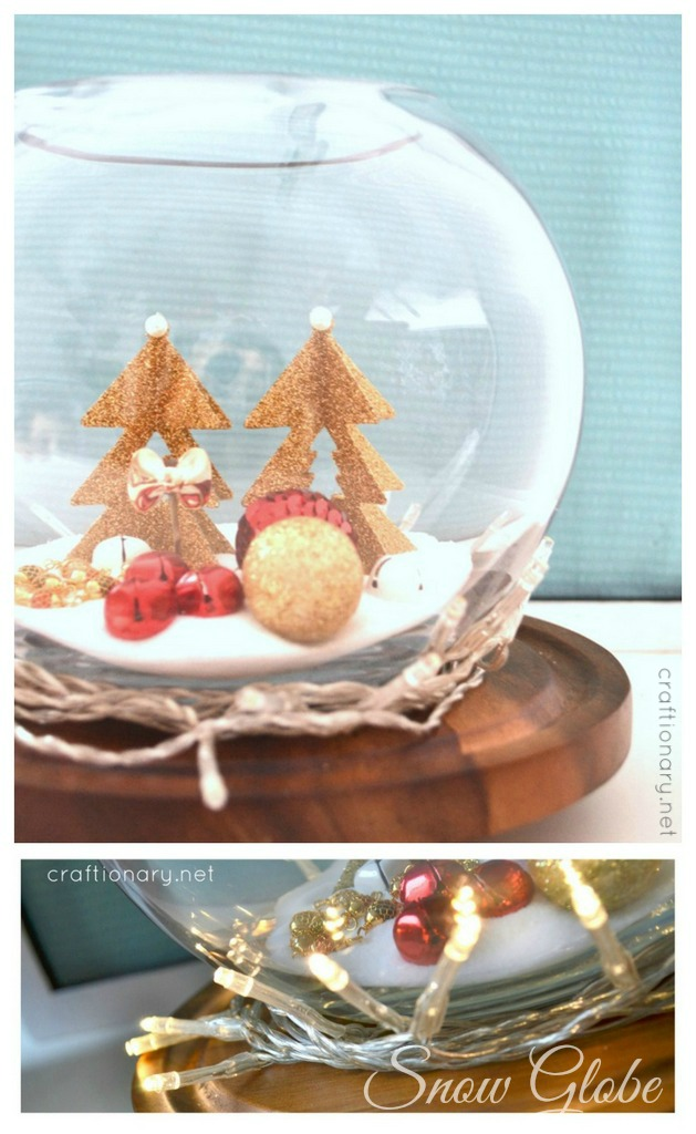 Decorating with lights - String lights snow globe