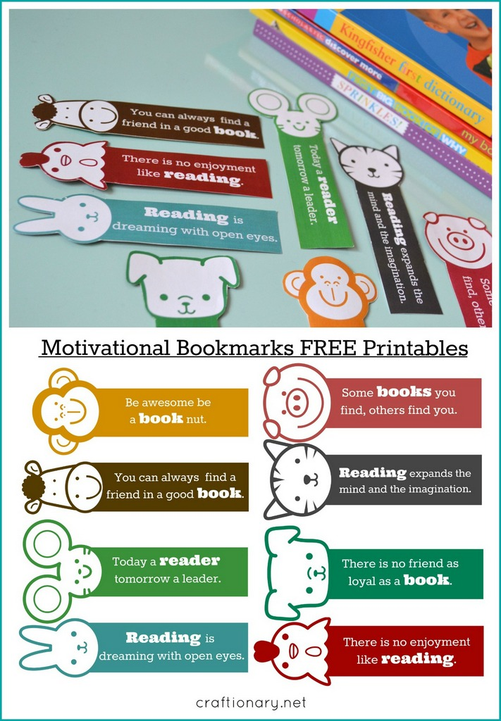 graphic regarding Free Printable Bookmarks With Quotes identify Craftionary