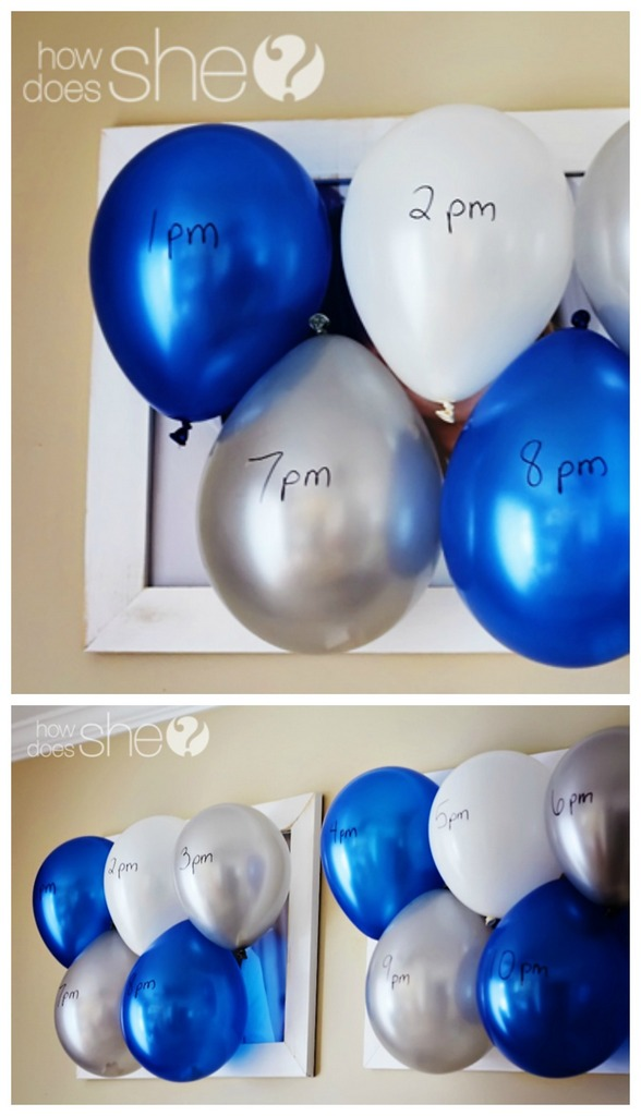 New Year Eve Countdown with balloons
