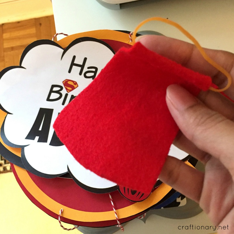 DIY superhero felt cape