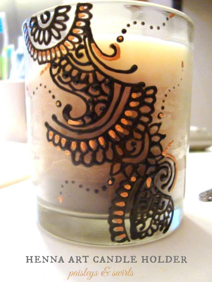 Henna candle holder