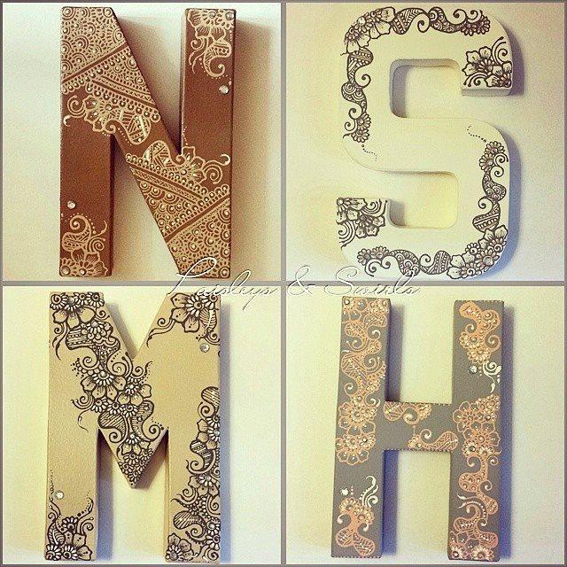 Henna art letters