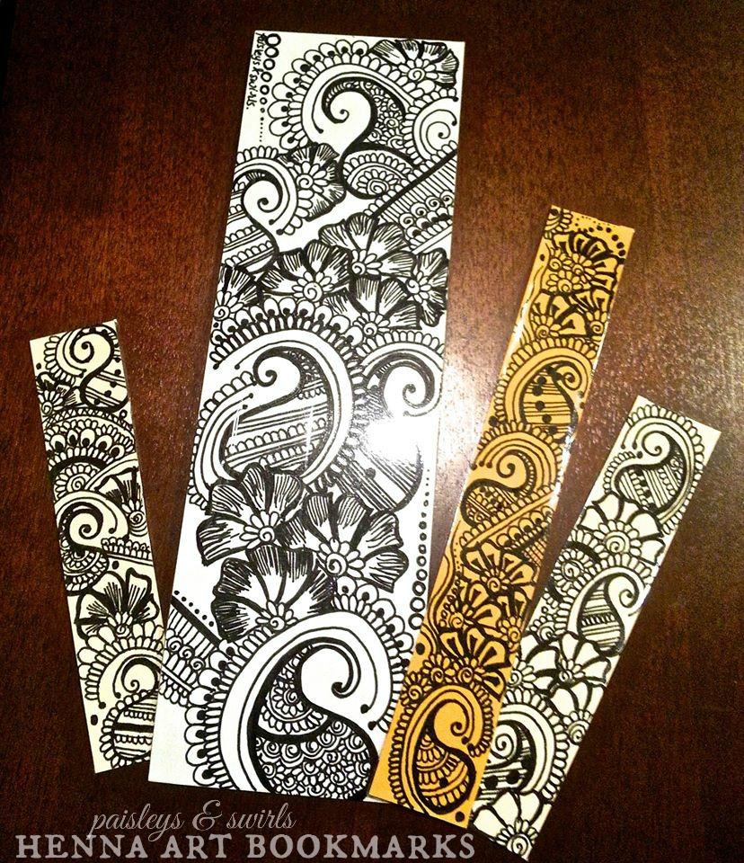 Henna art bookmarks