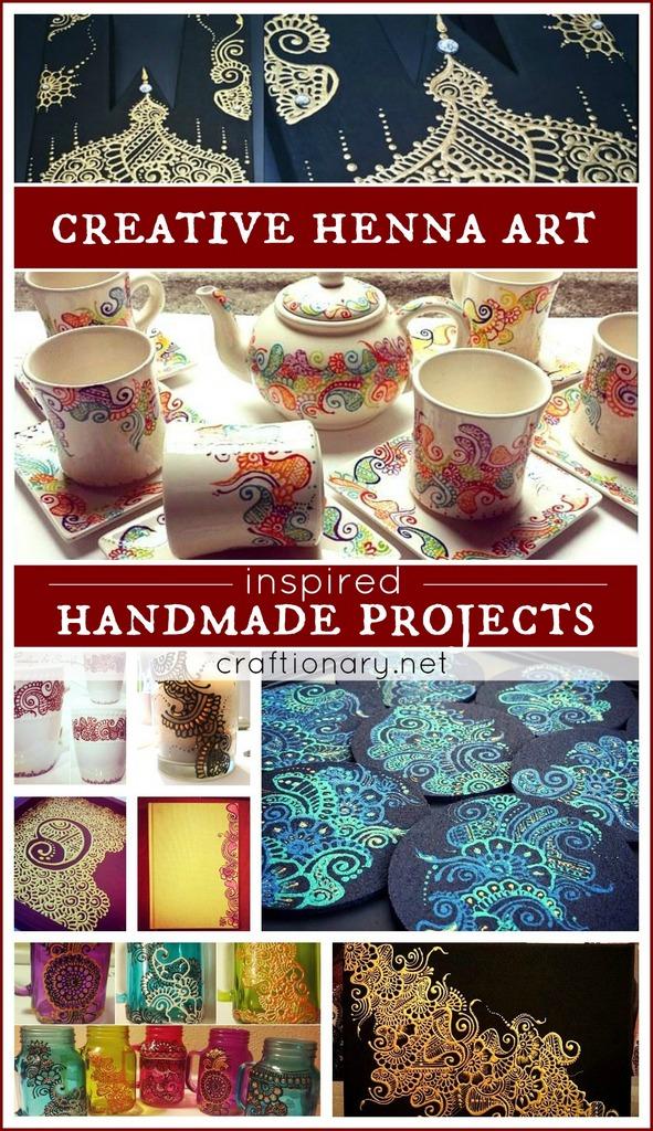 Creative henna art handmade projects at craftionary.net