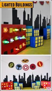 DIY lighted buildings