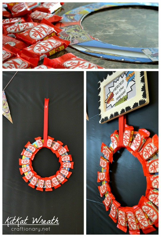 kitkat candy wreath